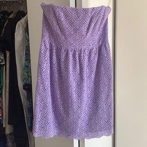 Lilac strapless Shoshanna dress